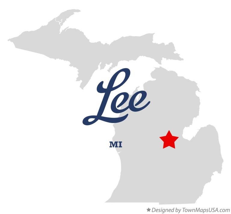 Map of Lee Michigan MI