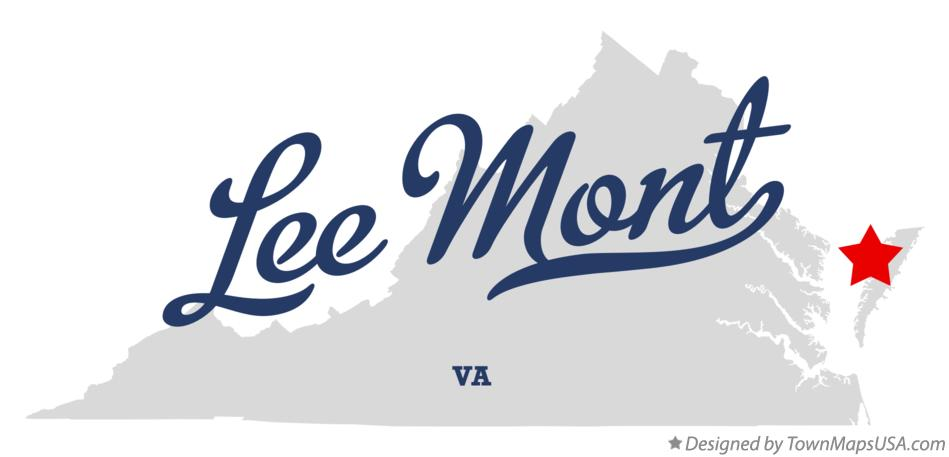 Map of Lee Mont Virginia VA