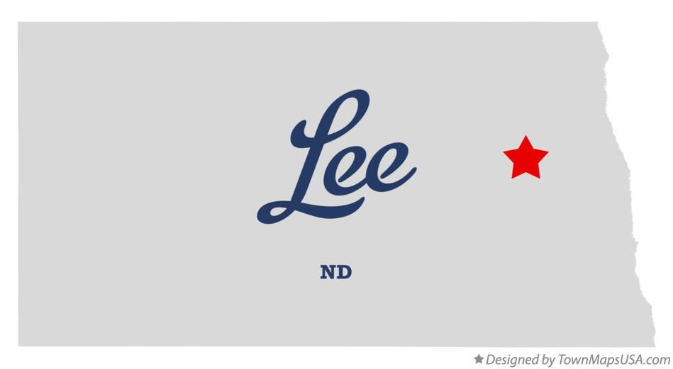 Map of Lee North Dakota ND
