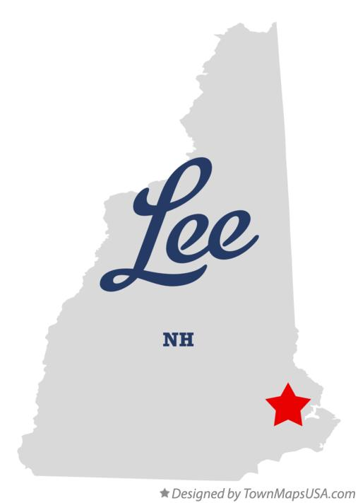 Map of Lee New Hampshire NH