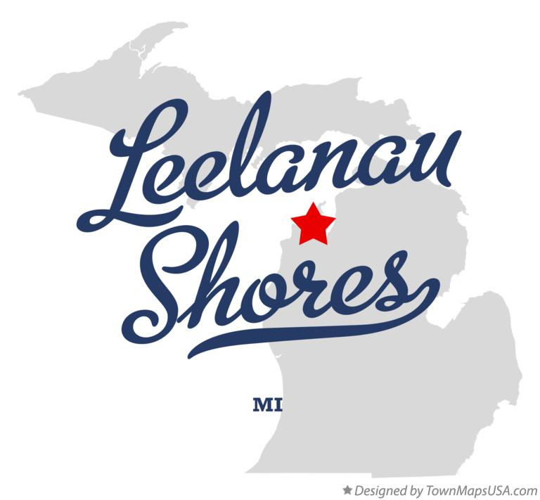 Map of Leelanau Shores Michigan MI