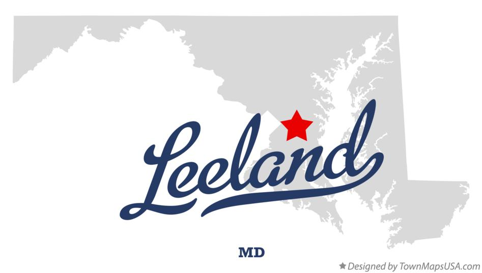Map of Leeland Maryland MD