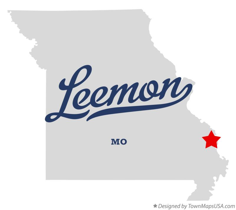 Map of Leemon Missouri MO