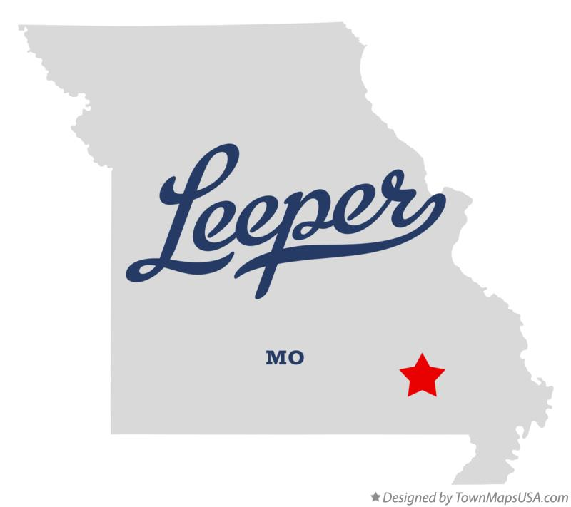 Map of Leeper Missouri MO