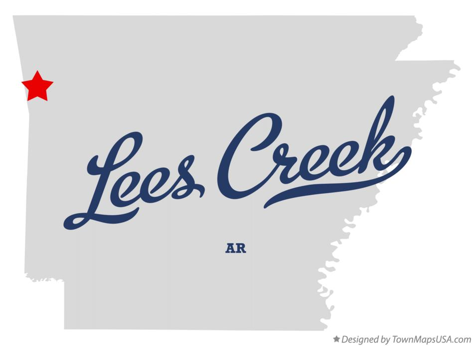 Map of Lees Creek Arkansas AR
