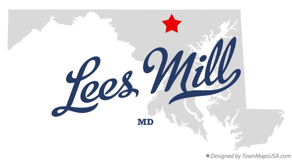 Map of Lees Mill Maryland MD