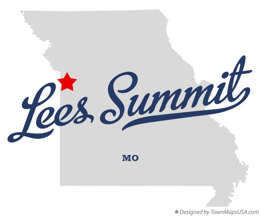 Map of Lees Summit Missouri MO
