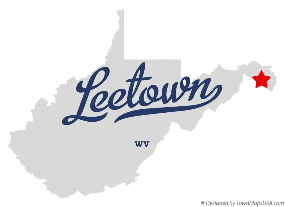 Map of Leetown West Virginia WV