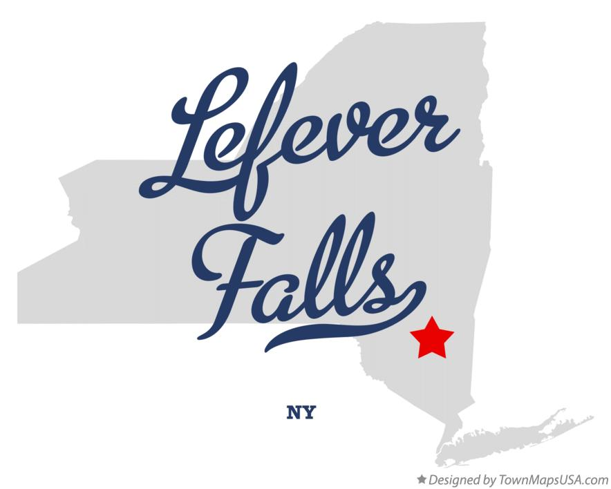 Map of Lefever Falls New York NY