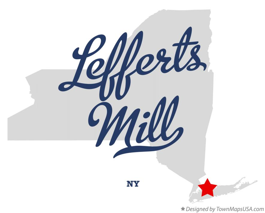 Map of Lefferts Mill New York NY