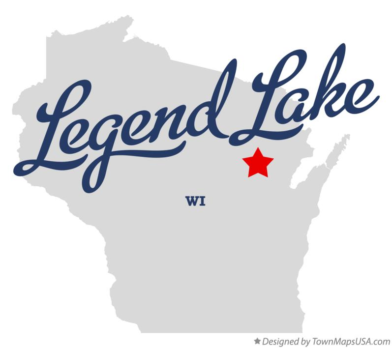 Map of Legend Lake Wisconsin WI