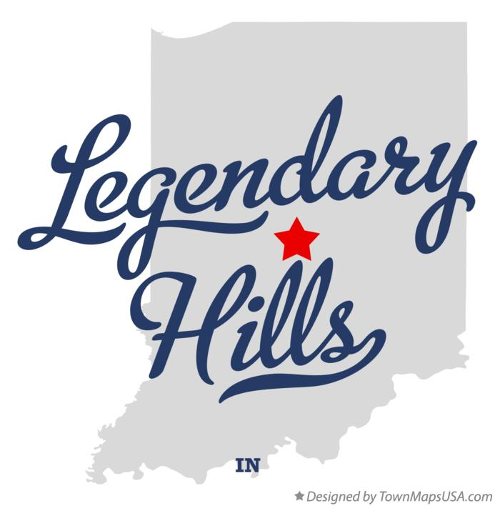Map of Legendary Hills Indiana IN