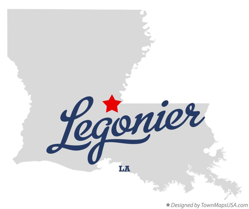 Map of Legonier Louisiana LA