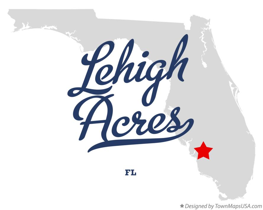 Map Lehigh Acres fl Map of Lehigh Acres Florida fl