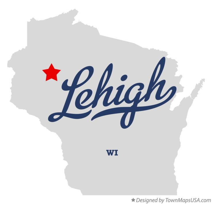 Map of Lehigh Wisconsin WI