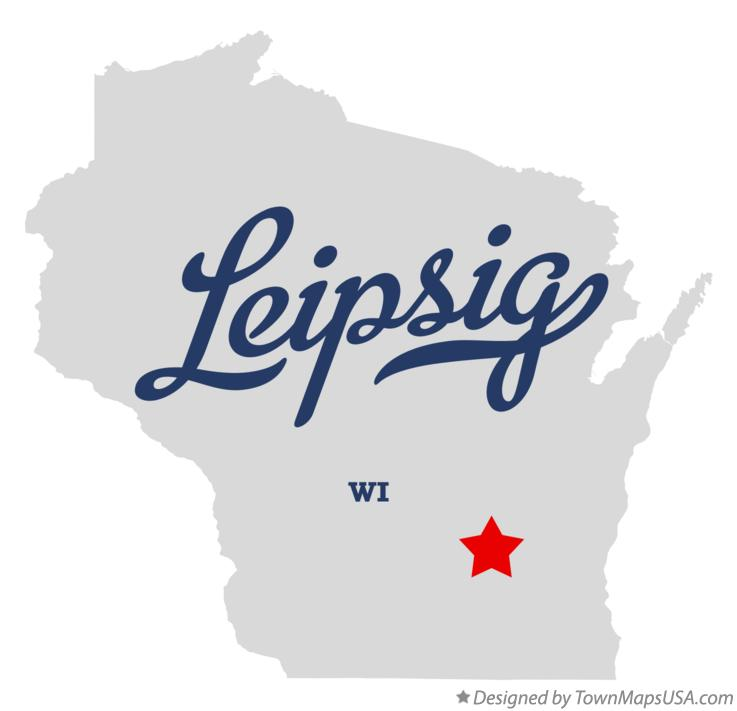 Map of Leipsig Wisconsin WI