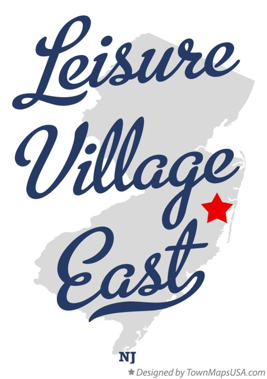 Map of Leisure Village East New Jersey NJ