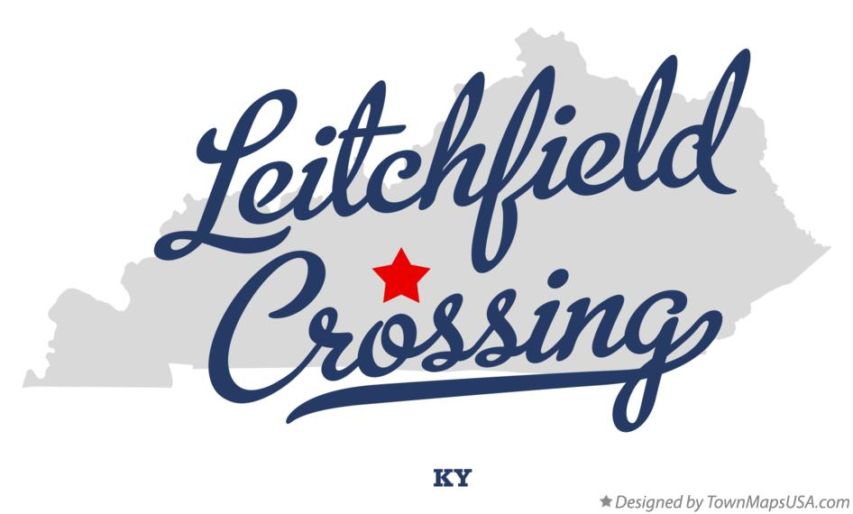 Map of Leitchfield Crossing Kentucky KY