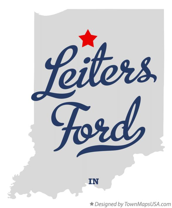Map of Leiters Ford Indiana IN