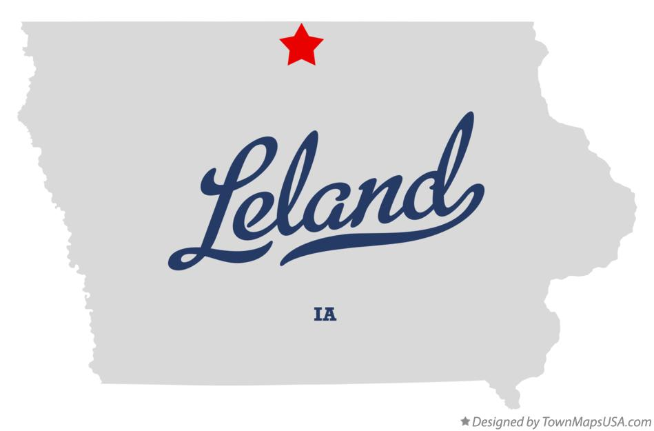 Map of Leland Iowa IA