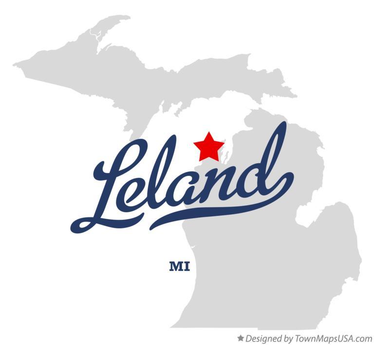 Map Of Leland Mi Michigan
