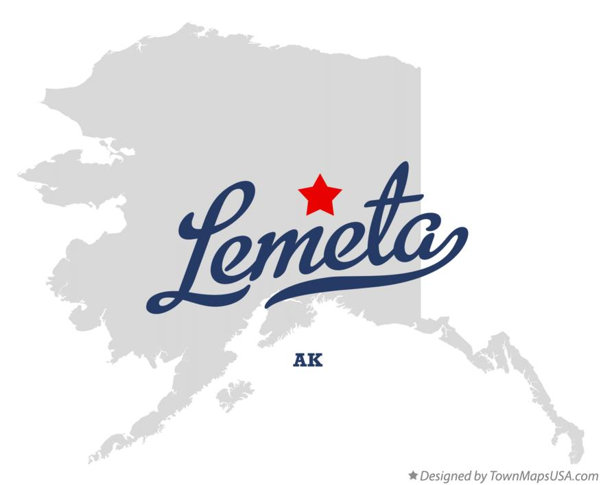 Map of Lemeta Alaska AK