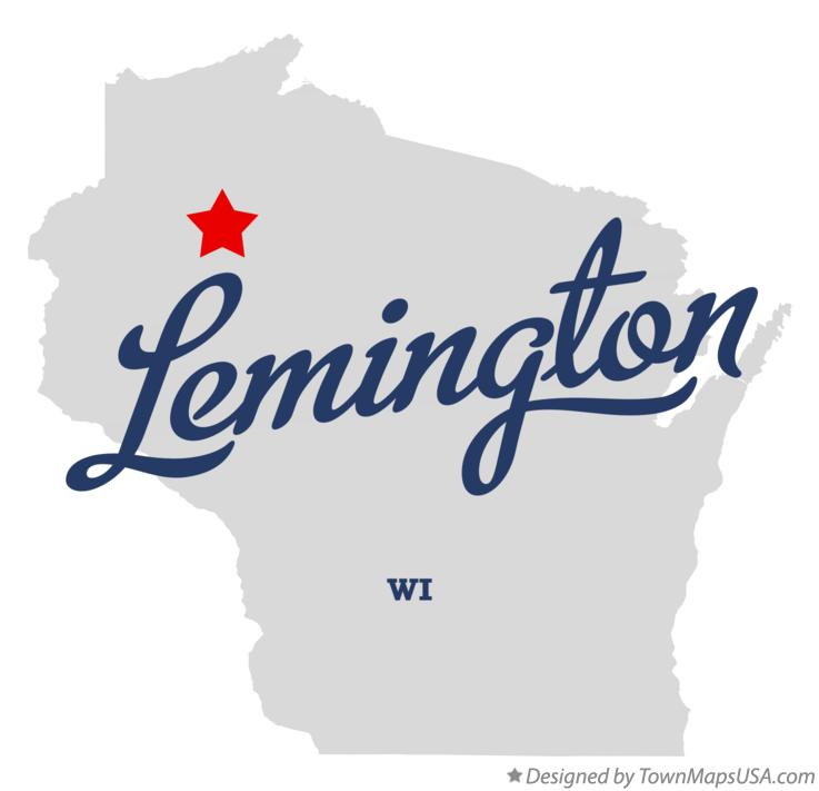 Map of Lemington Wisconsin WI