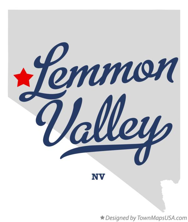 Map of Lemmon Valley Nevada NV