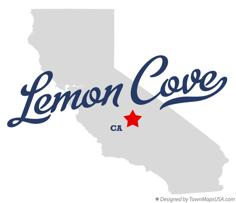 Map of Lemon Cove California CA