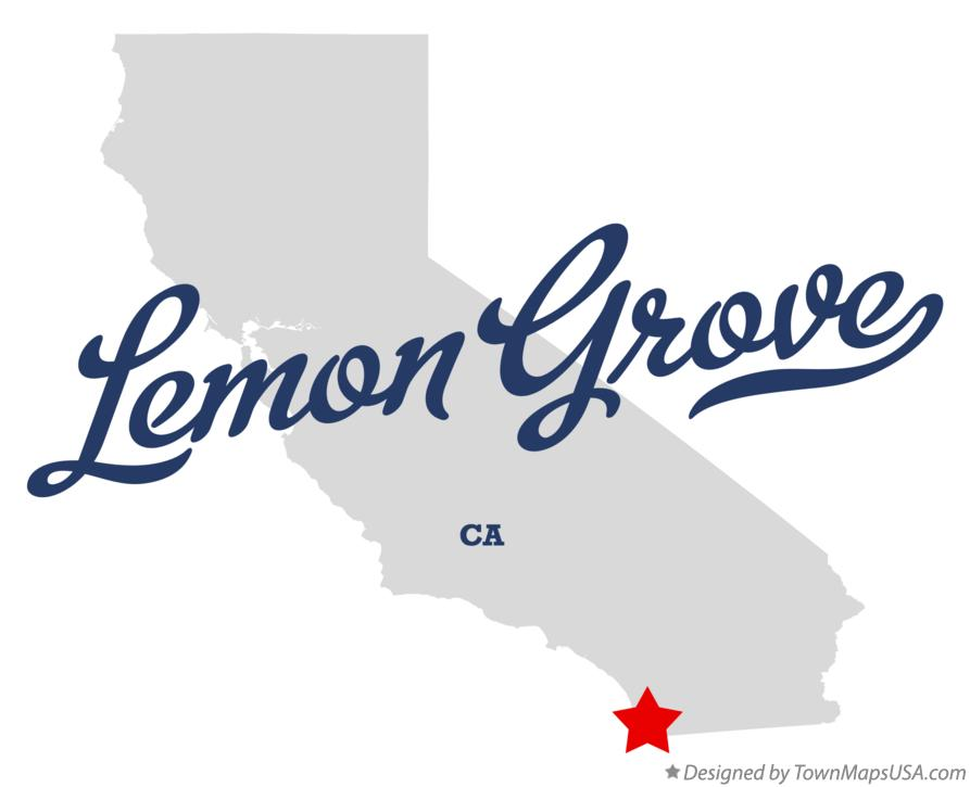 Map of Lemon Grove California CA