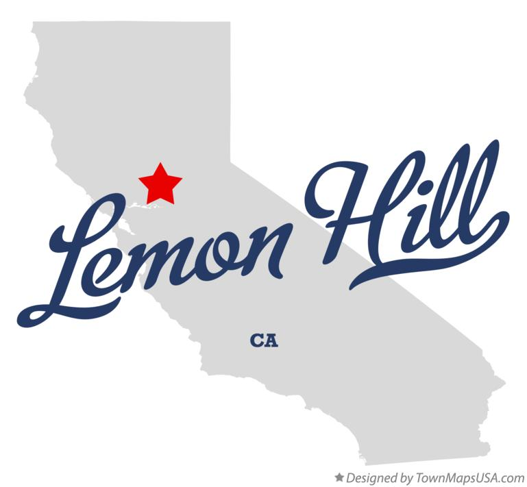 Map of Lemon Hill California CA