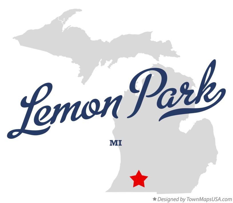 Map of Lemon Park Michigan MI
