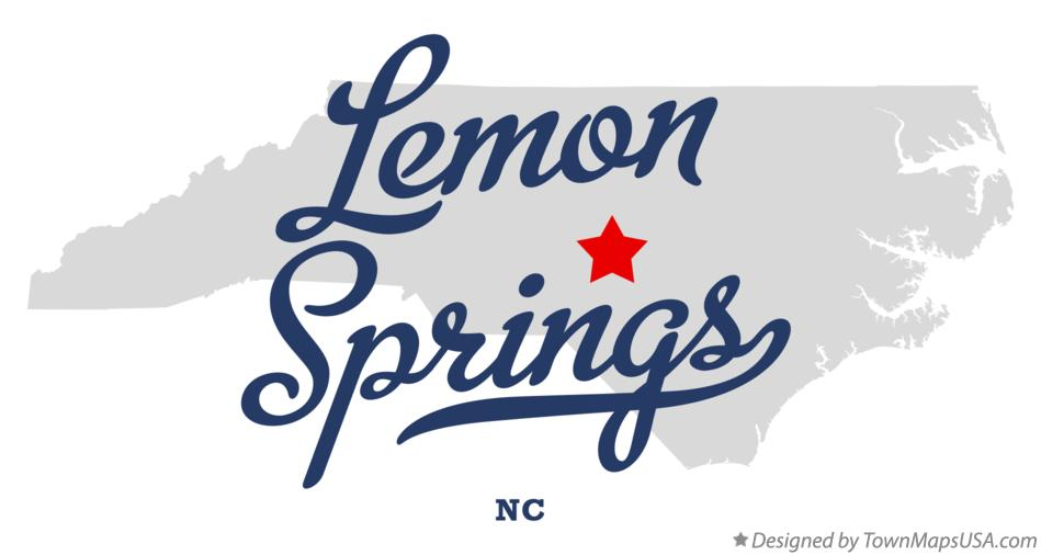 Map of Lemon Springs North Carolina NC