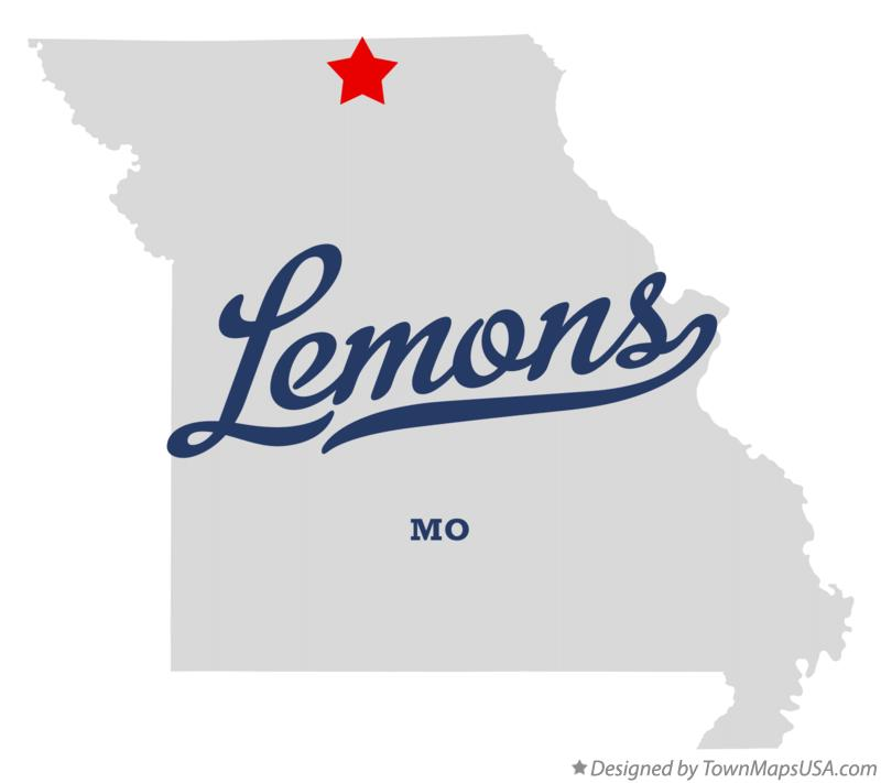 Map of Lemons Missouri MO