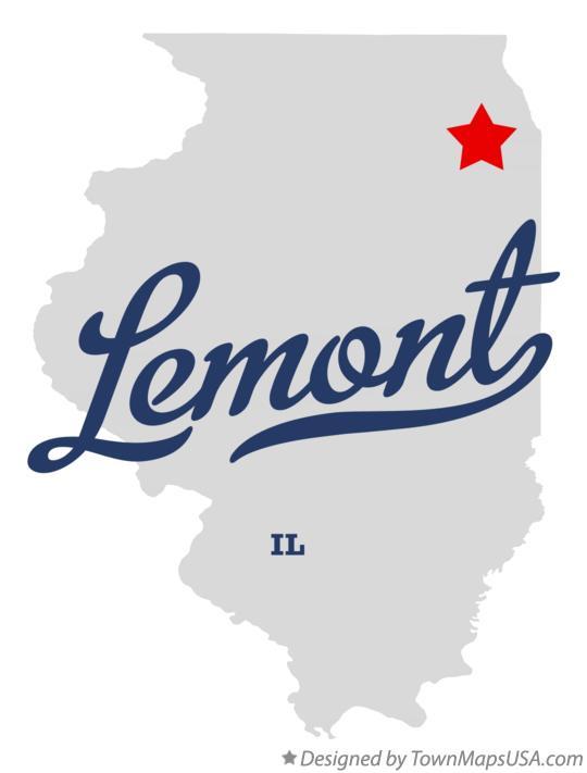 Map of Lemont, IL, Illinois