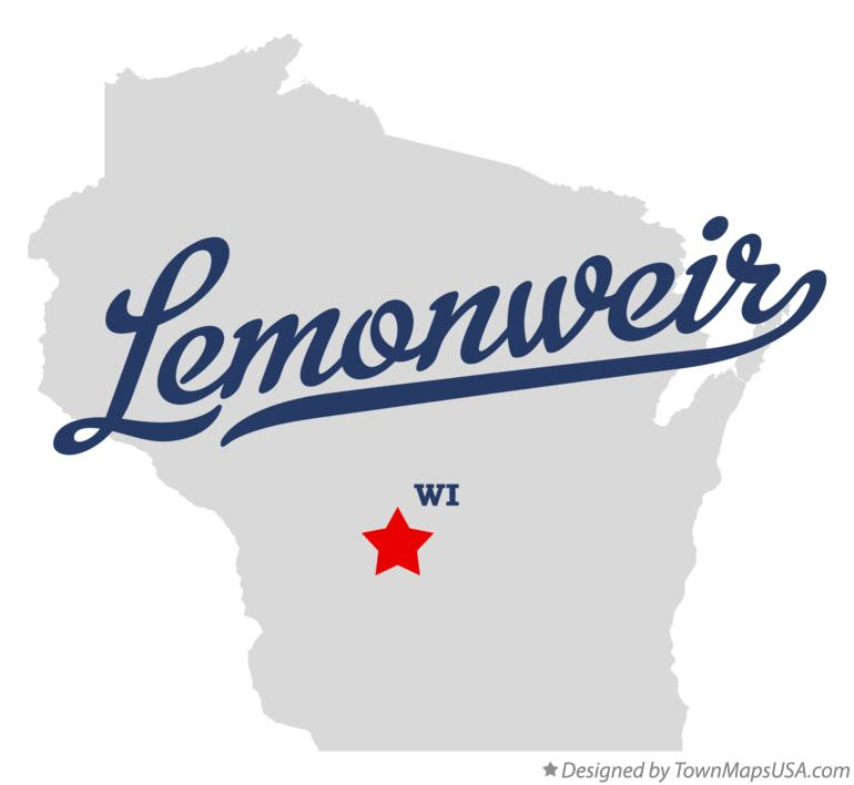 Map of Lemonweir Wisconsin WI