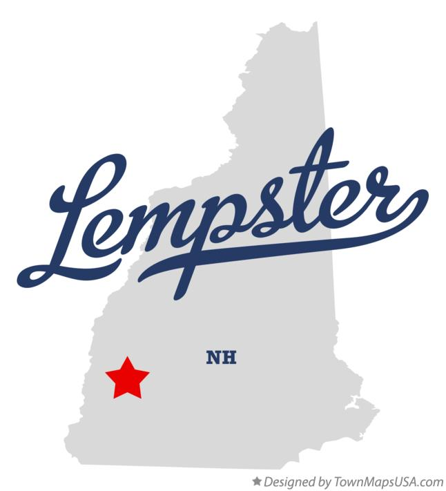 Map of Lempster New Hampshire NH