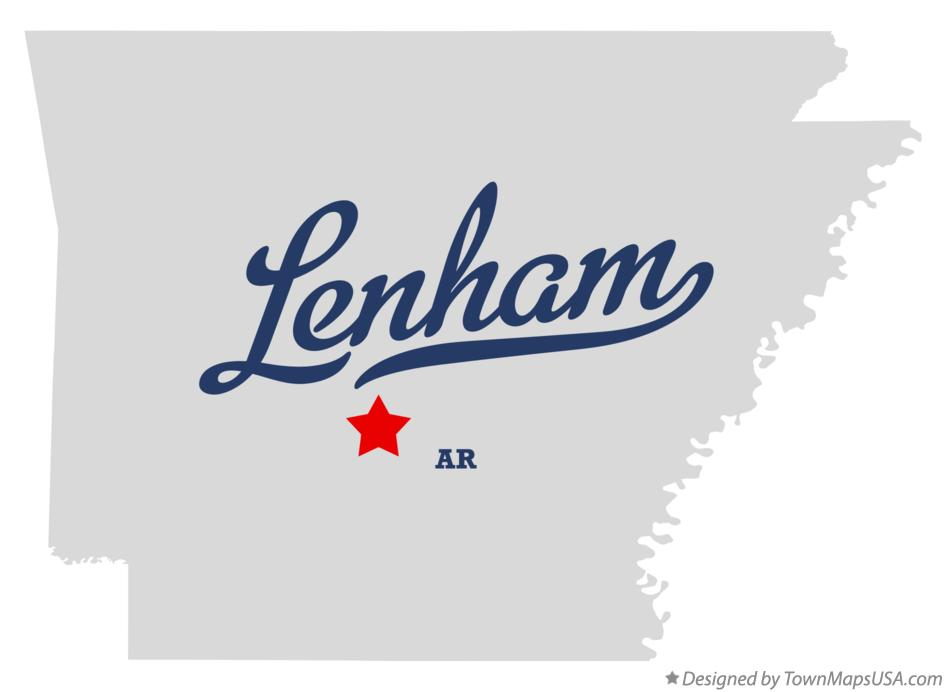 Map of Lenham Arkansas AR