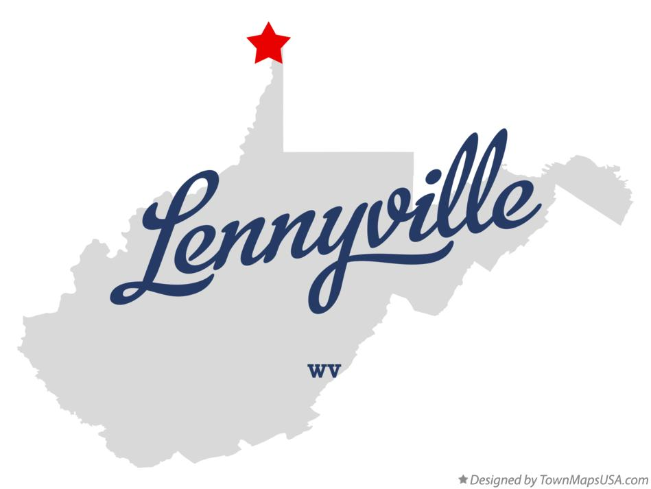Map of Lennyville West Virginia WV
