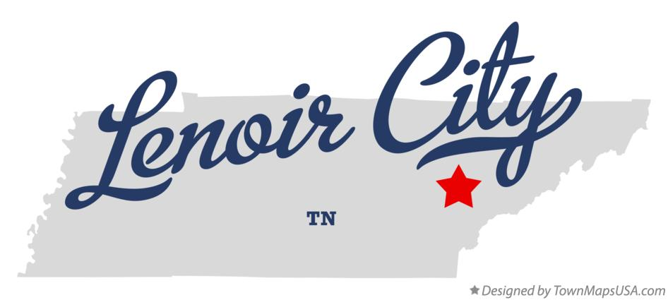 Map of Lenoir City Tennessee TN