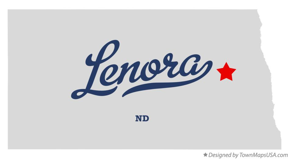 Map of Lenora North Dakota ND