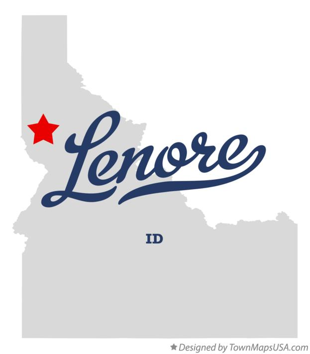 Map of Lenore Idaho ID