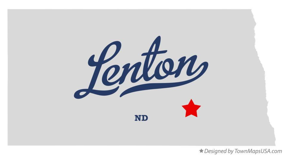 Map of Lenton North Dakota ND