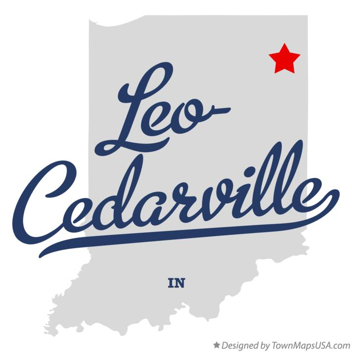 Map of Leo-Cedarville Indiana IN
