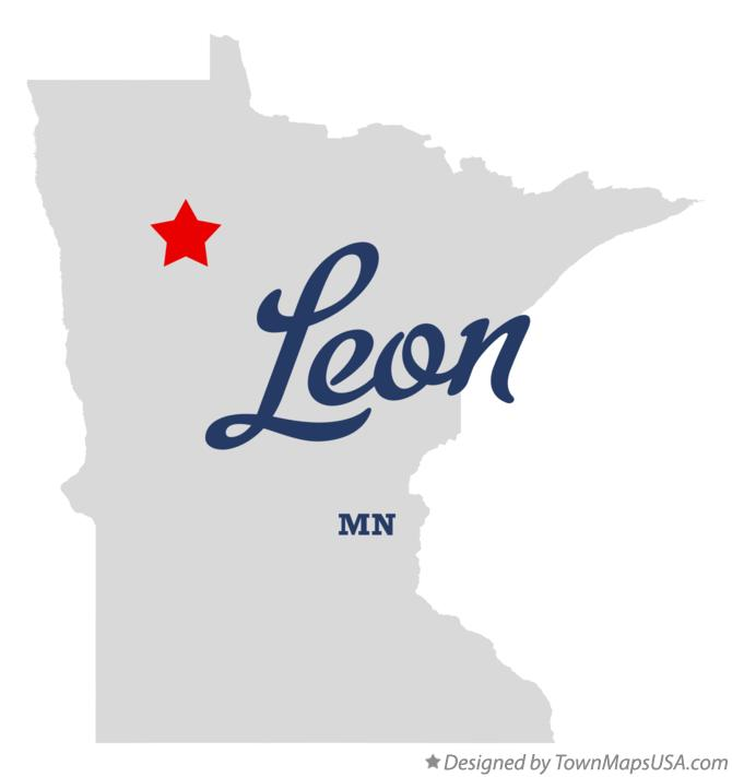 Map of Leon Minnesota MN