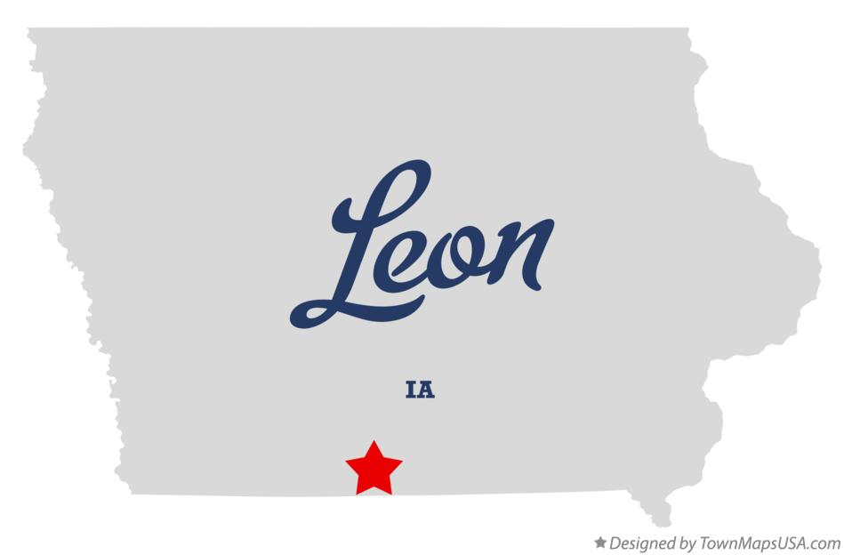 Map of Leon Iowa IA