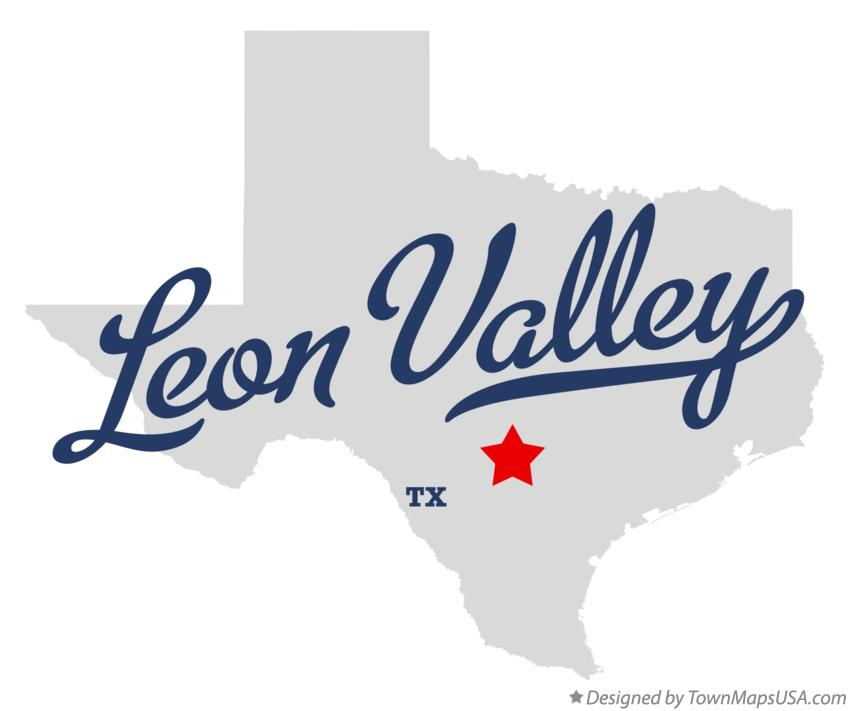 Map of Leon Valley Texas TX