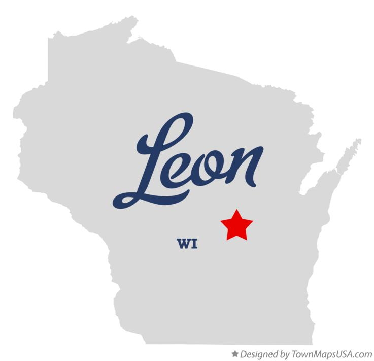 Map of Leon Wisconsin WI