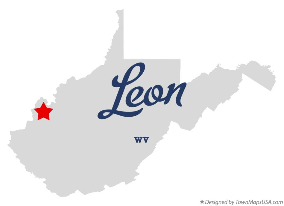 Map of Leon West Virginia WV