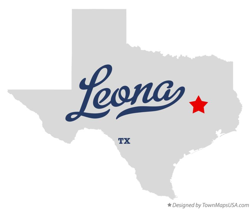 Map of Leona Texas TX